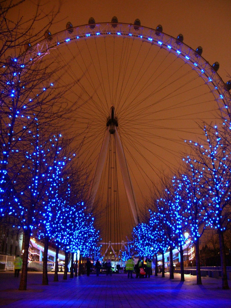 The London Eye during Christmas