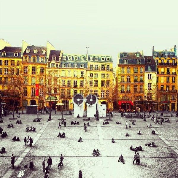 place georges pompidou beaubourg paris