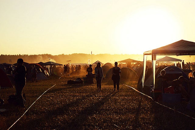Sunrise at the Hurricane Festival - Photo by Sing me a song via Flickr