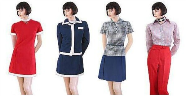american airlines uniforms 1970s