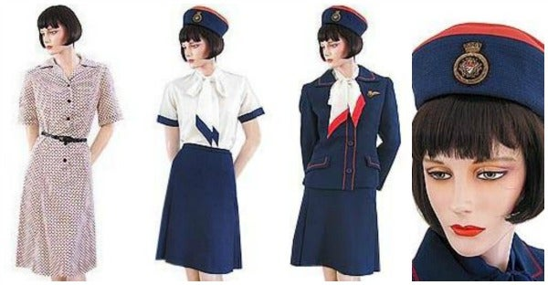 british airways uniforms 1970s