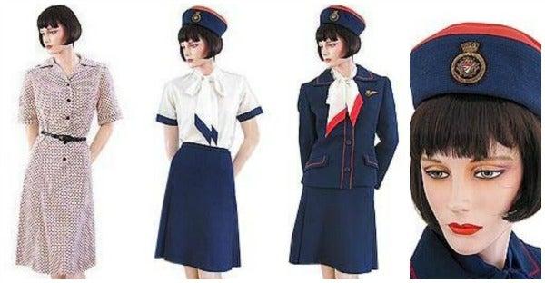 Flight attendants' uniforms - 1970s - Opodo Travel Blog