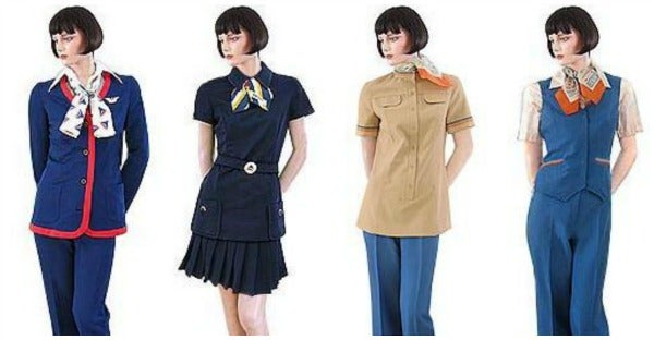 delta air lines uniforms 1970s