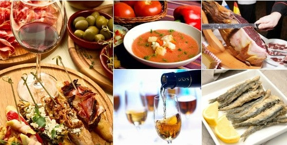 The Andalusian cuisine