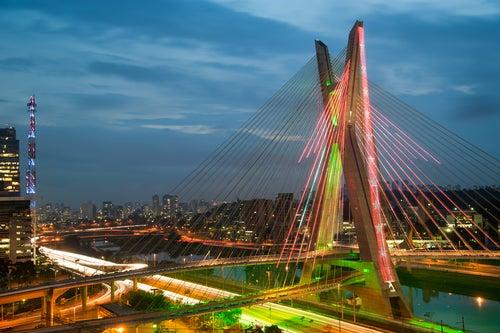 Octavio Frias de Oliveira bridge in São Paulo, Brazil