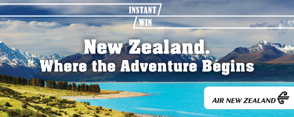 Instant Win Air New Zealand