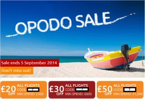 opodo flights sale