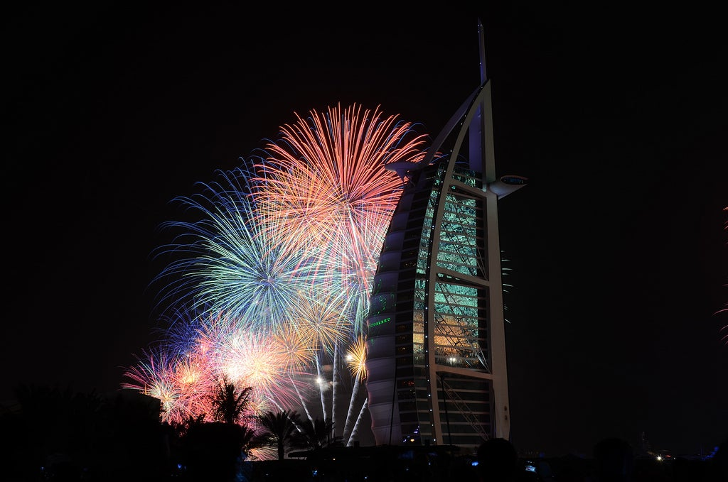 Fireworks in Dubai for New Year's Eve