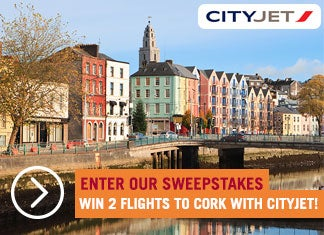 Enter our sweepstakes and win 2 flight tickets to Cork