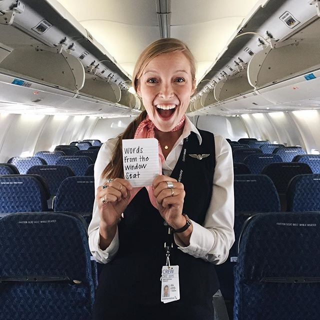 Taylor Tippett as a Flight attendant