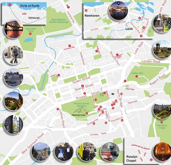 Map by This is Edinburgh.com