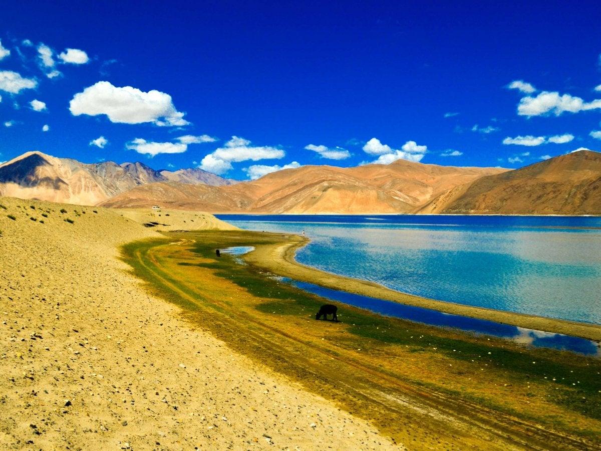 Pangong Tso Lake in Ladakh, Himalayas, India