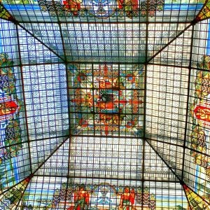a glass ceiling at banco madrid