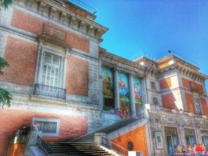 the outside of el prado museum madrid