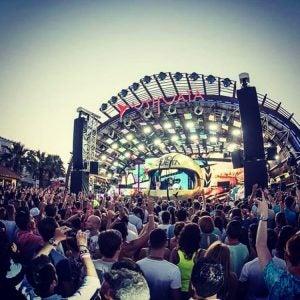 an outdoor festival in Ibiza