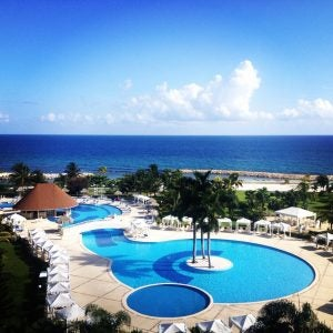 a beautiful resort pool in montego bay