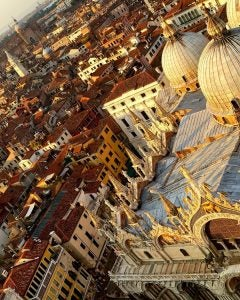 the view from Saint Mark's Square Tower