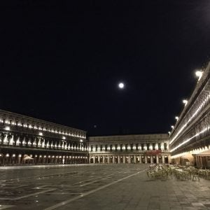 venice's piazza san marco at night