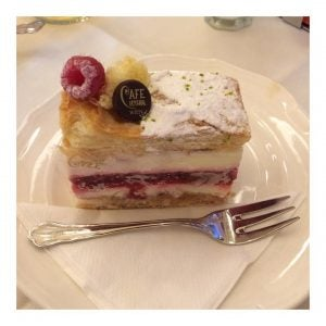 cake at cafe central vienna