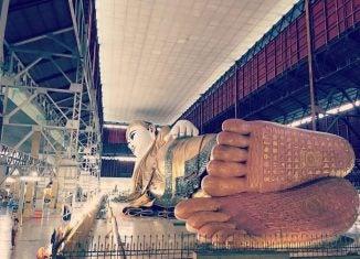 the reclining Buddha in yangon myanmar