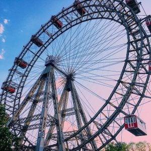 a ferris wheel in vienna