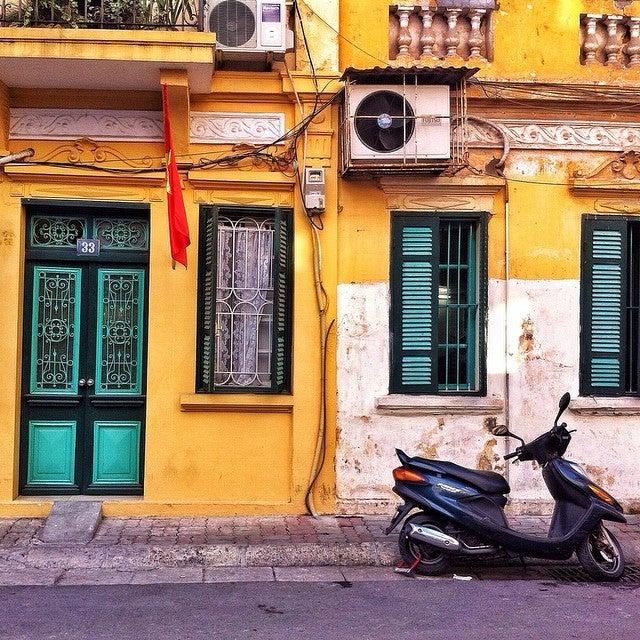 a street scene of the french quarter hanoi