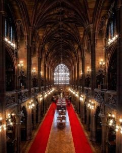 an overhead view of john rylands library manchester