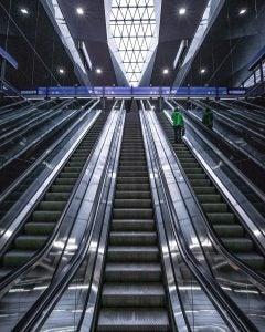 escalators at vienna's main train station