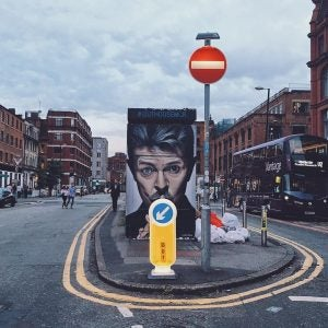 david bowie street art in the northern quarter manchester
