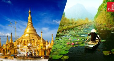 Win a flight to Yangon or Hanoi with Emirates