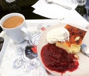 ostkaka cheesecake in stockholm sweden
