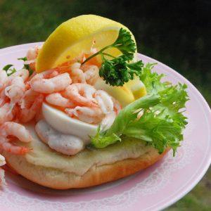 swedish shrimp on a bun