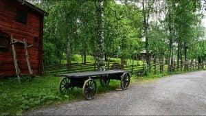a wagon in skansen museum stockholm