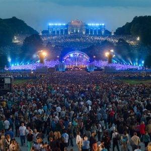 an outdoor concert scene in vienna