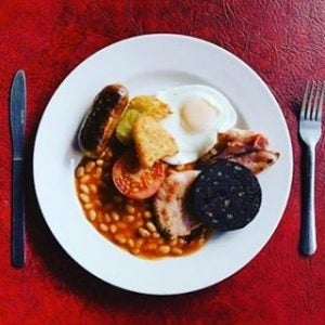 a traditional english fry up at the koffee pot manchester