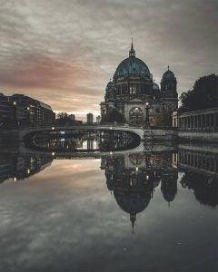 the berlinerdom over the river in berlin