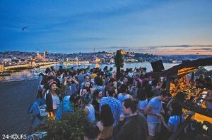 a party by the bosphorus river istanbul