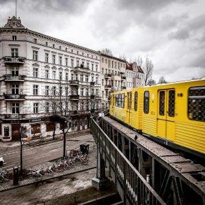 an s-bahn train in berlin