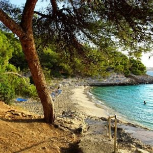 a quiet beach in cala comtessa, best beaches of the balearic islands