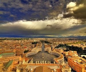an aerial view of vatican city rome
