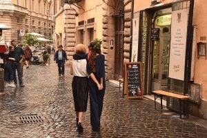 tourists walk along the shopping street via governo vecchio rome, 20 Things to Do in Rome