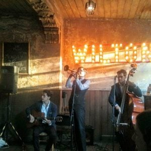a band plays at wilton's music hall london