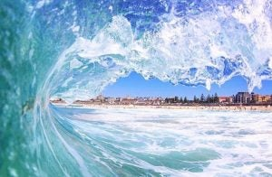 a surf wave at bondi beach sydney