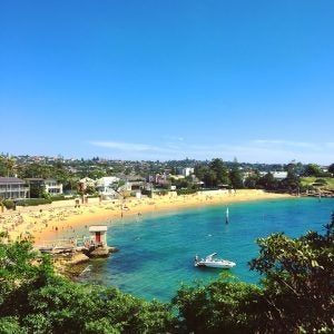 a look over swimmers at camp cove sydney