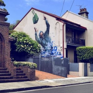 street art on the side of a house newtown sydney
