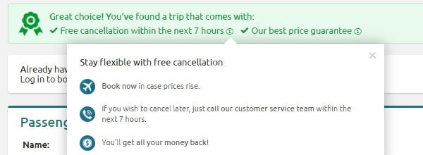 opodo free cancellation