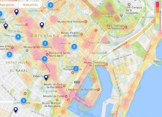 Opodo hotel heat maps