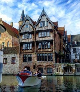 a canal cruise in bruges belgium