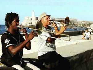 hon players along the malecon in havana cuba
