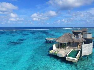 a home on the water in the maldives